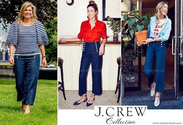Queen Maxima wore J.Crew Sailor Pant