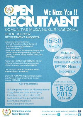 Open Recruitment KOMMUN 2015