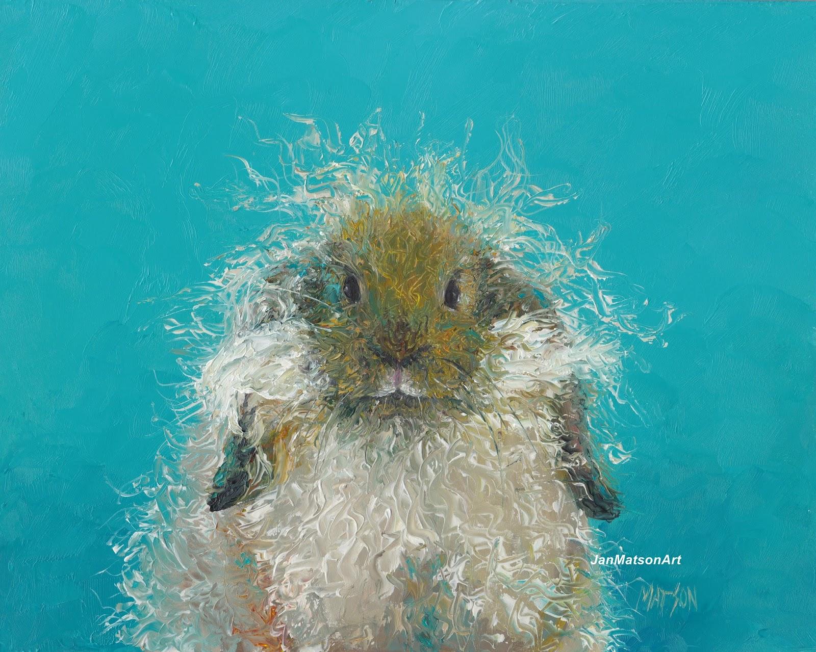 Etsy Art Rabbit Painting Oswald