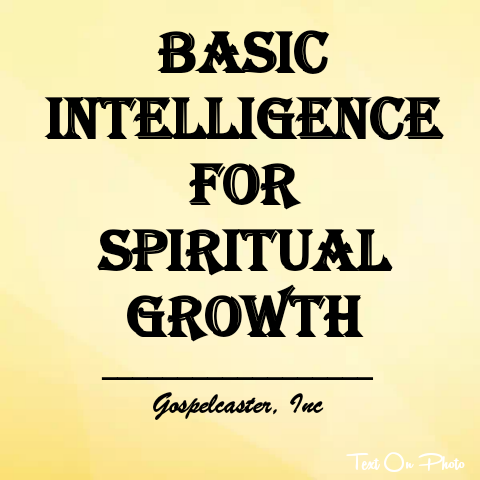 Basic Intelligence Required For Spiritual Growth