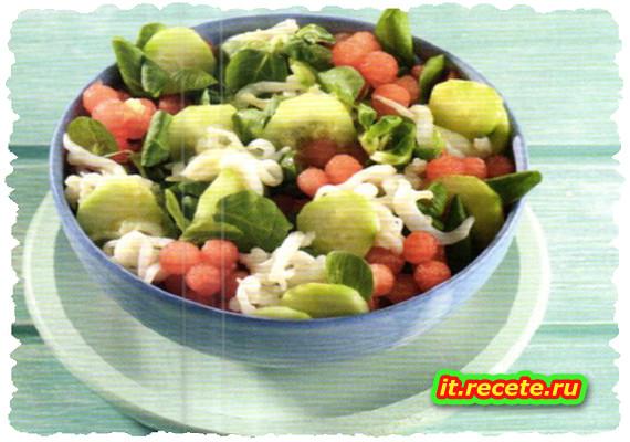 Insalata piccante di seppioline e anguria