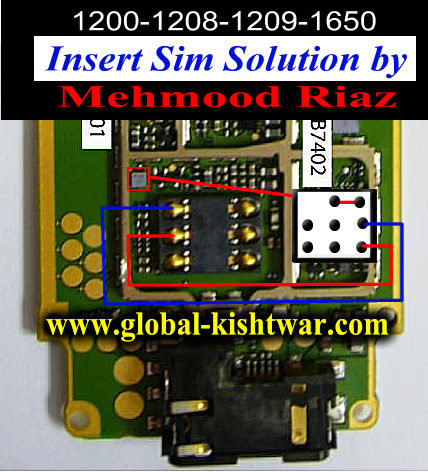 Cell Firmware: Nokia 1208 Insert Sim Problem Jumpers