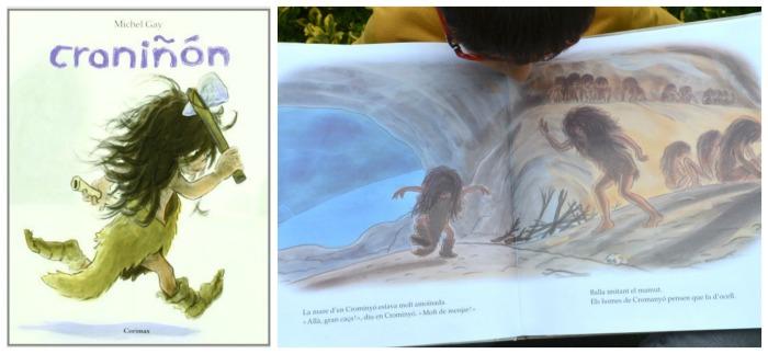 cuentos infantiles inpiracion filosofia educacion montessori croniñon, libros conocimientos prehistoria