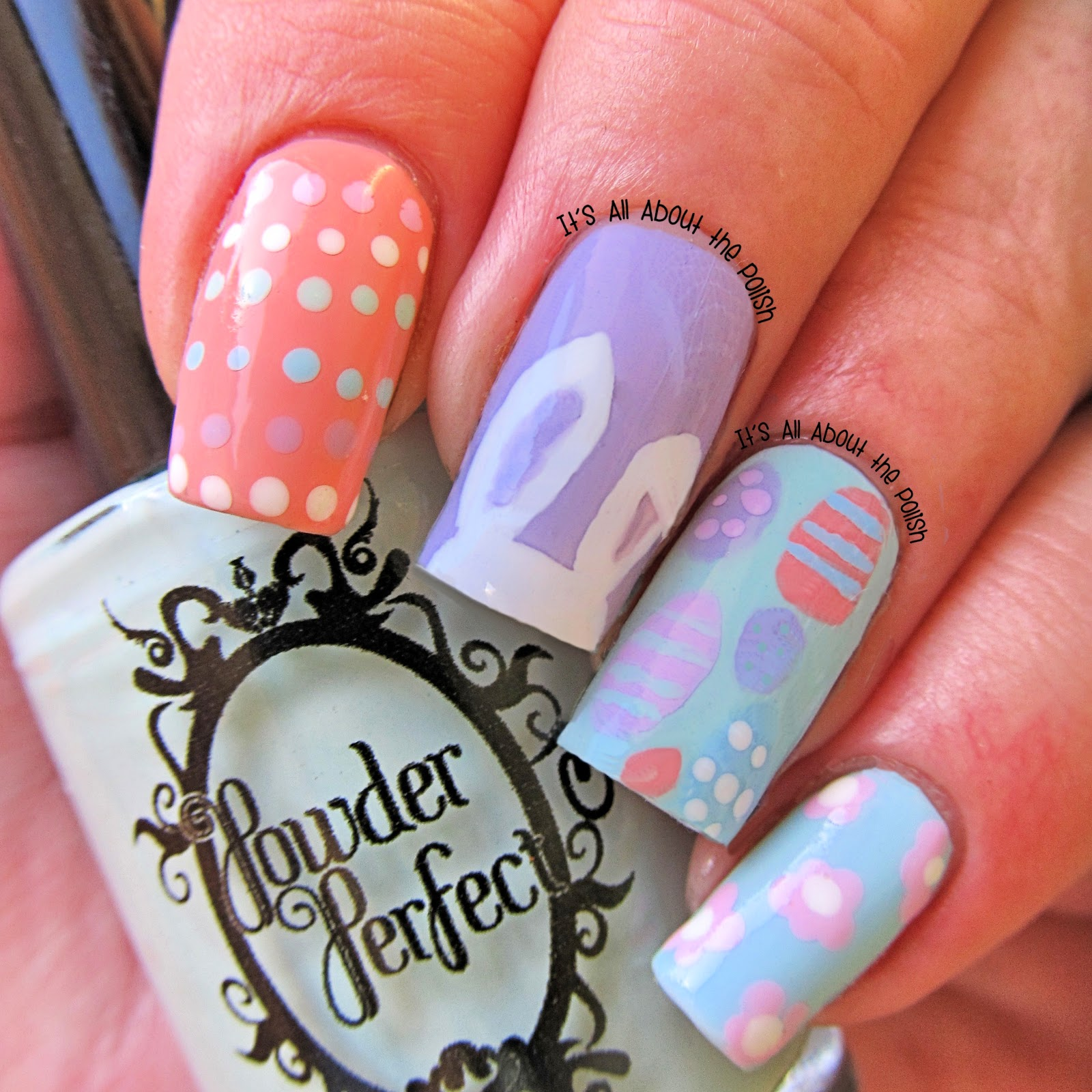 Easter Bunny Nails: It's All About The Polish: Easter Bunny Nail Art