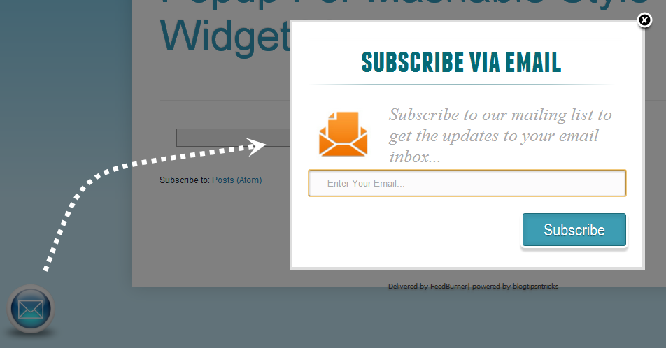 new email widget