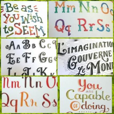 Art of hand lettering sample