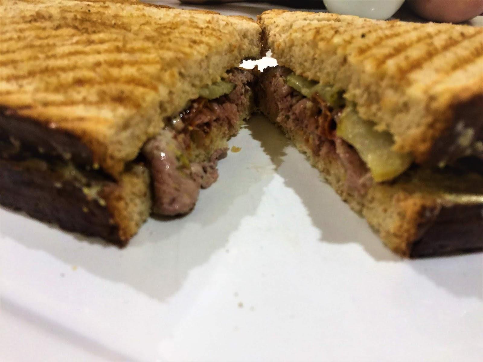 Roasted Beef Sandwich in City of Dreams Manila