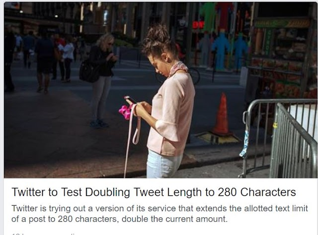 909. Twitter doubles tweet length