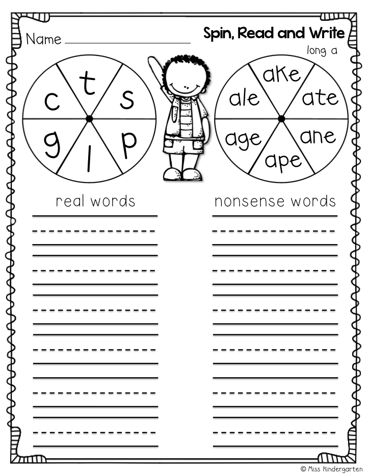 Miss Kindergarten: Super CVCe Practice {that tricky magic e!}