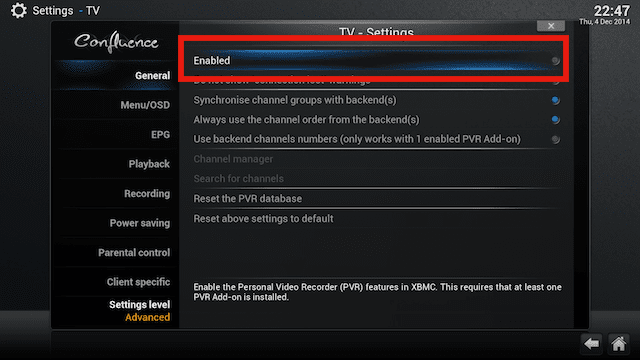 Xbmc android pvr build