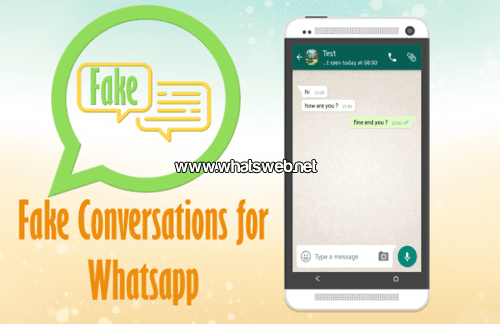 Fake Conversation for Whatsapp
