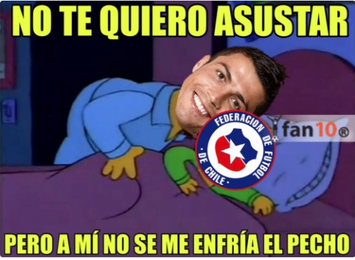 Cristiano Ronaldo avisa a Chile que no es pecho frío
