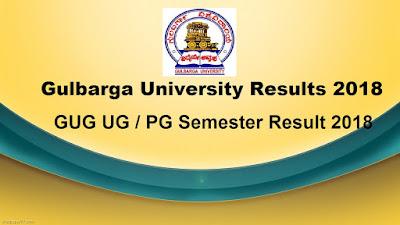 Gulbarga University Results 2018, GUG 1st, 2nd, 3rd, 4th, 5th, 6th Semester Results 2018