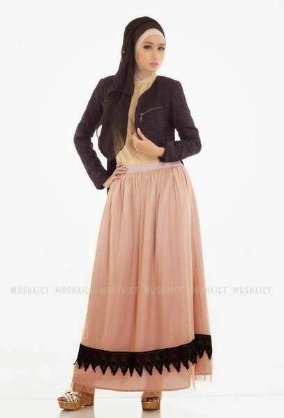 Contoh model blazer modis untuk wanita muslimah