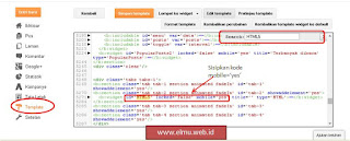 Cara menampilkan widget pada blogspot mobile