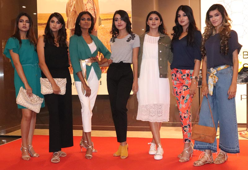 Models on ramp during fashion show at Pavilion Mall in Ludhiana