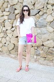 conjunto en rosa fluor pantalones