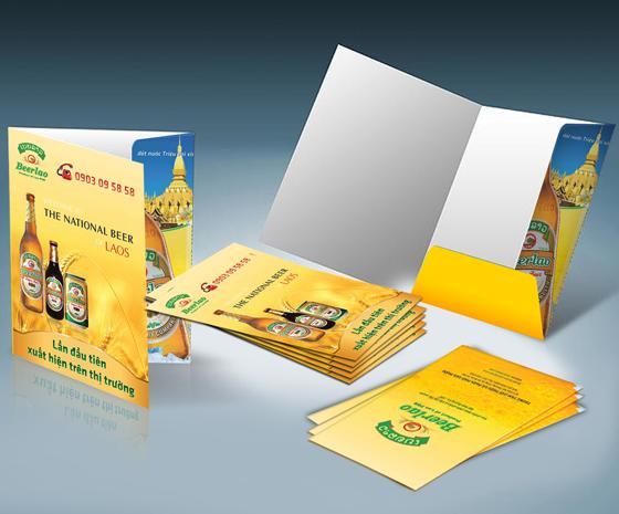 Thiết kế kẹp file công ty đẹp - In kẹp file tài liệu giá rẻ, chuyên nghiệp tại Hà Nội BeerLao