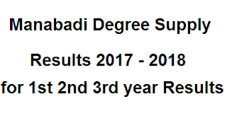 Manabadi Degree Supply Results 2017 - 2018, Schools9 Degree Supply Results 2017