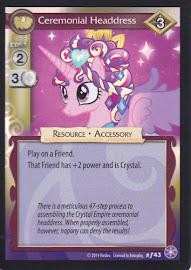 My Little Pony Ceremonial Headdress The Crystal Games CCG Card
