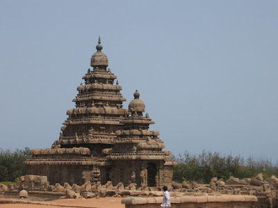 Close up of Shore Temple, Mahabalipuram