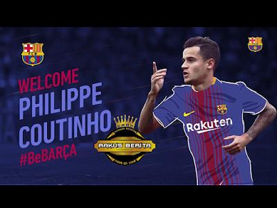 Coutinho Telah Resmi Pergi Ke Barcelona Dengan Harga 160 Juta Euro