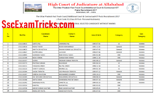 Allahabad High Court PA Final Result