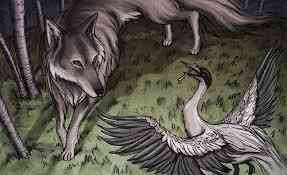 the wolf wanted to kill the crane
