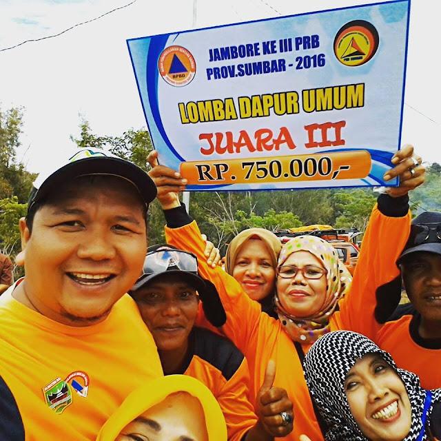 BPBD Padang Pariaman Juara 3 Lomba Dapur Umum Jambore Pengurangan Resiko Bencana Ke-3