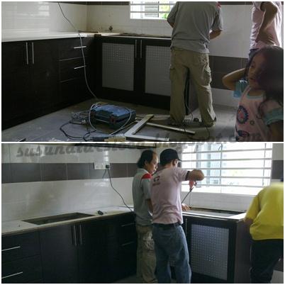 Kat Dinding Dapur Saya Tu Lepas Cabut Granite Syukurlah Kami Bertindak Awal Kalau Tak Dah Kembang Macamana Agaknya Kayu Area Sinki Ni