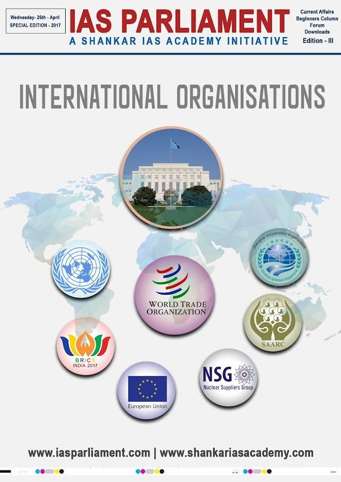 International Organisations - Shankar IAS
