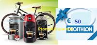 Logo Concorso ''Lavazza muove la tua energia'': vinci 500 Card Decathlon da 50€ e 5 bici elettriche