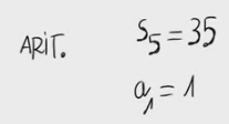13. Términos de una progresión aritmética a partir del primero y la suma