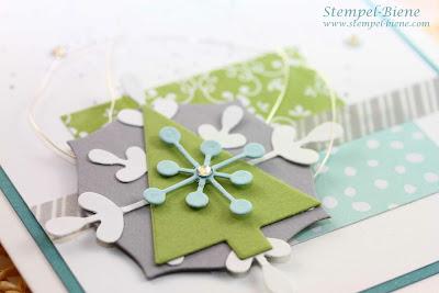 Stampin' Up Thinlits Formen Schneekristall-Karte, Stampin up Artikel bestellen, Stampin Up Sammelbestellung, Stampin up Weihnachtskarte, Match the Sketch, Stampin up Weihnachtskatalog 2014