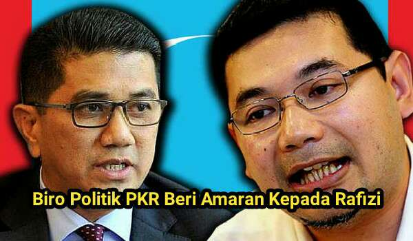 Laporan: Biro Politik PKR Beri Amaran Kepada Rafizi