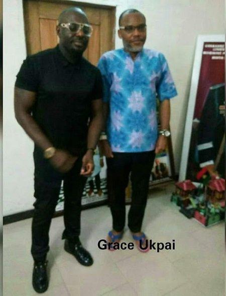 PHOTOS: Popular Nollywood actor, Jim Iyke paid a visit to Mazi Nnamdi Kanu