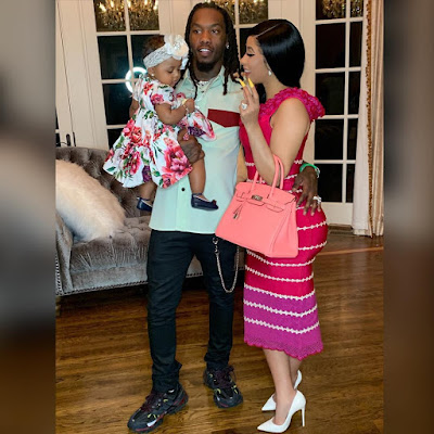 Cardi B Offset and baby Kulture in adorable family photos