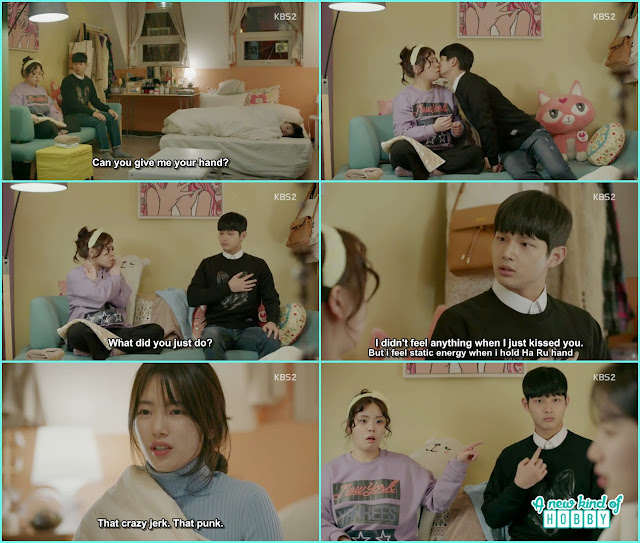 Jik kiss and hug Na Ri to check his feeling for Ha Roo - Uncontrollably Fond - Episode 16 Review