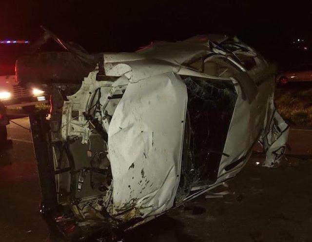 Saquearon la camioneta de los dos beisbolistas fallecidos en un accidente de tránsito