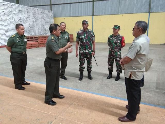 Tim Sergap Mabesad TNI Tinjau Bulog Bandorasa