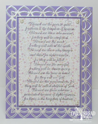 Our Daily Bread Designs Stamp Set: The Beatitudes, Our Daily Bread Designs Paper Collection: Easter Card  2016, Our Daily Bread Designs  Custom Dies: Pierced Rectangles, Deco Border