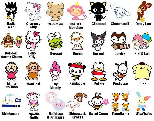Cartoon Name: Mums And Kids ★ Japan: Family Day Out At Hello Kitty