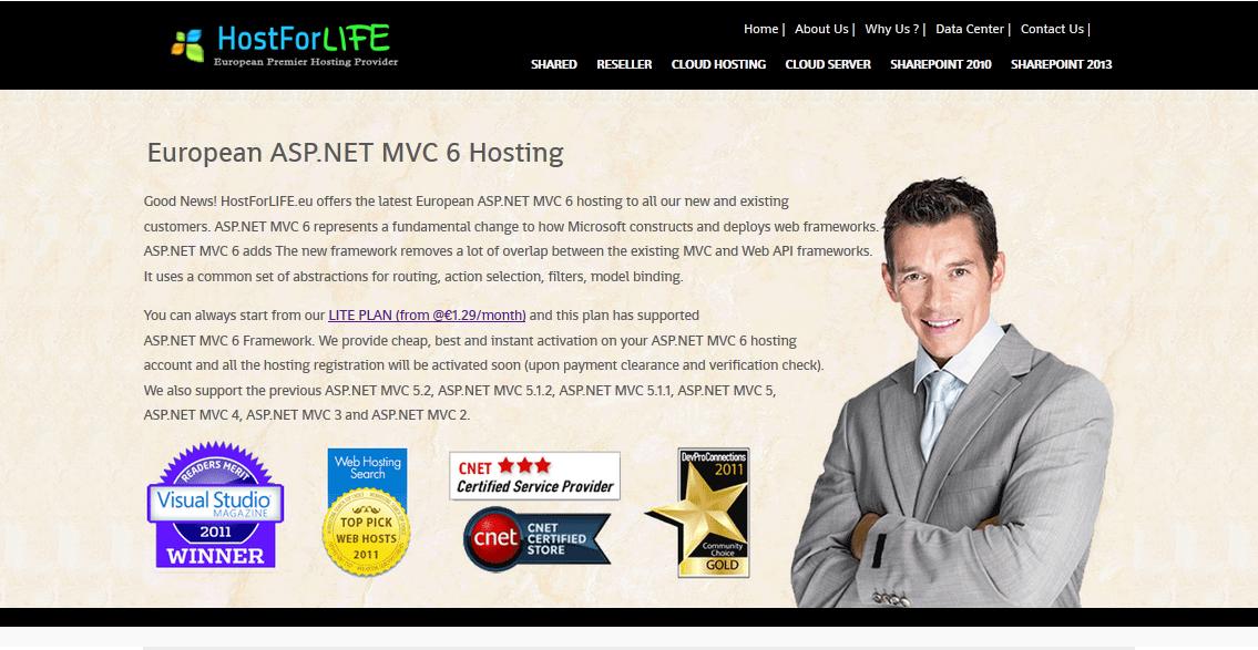 Why Should Choose HostForLIFE.eu Web Hosting to Build the ASP.NET MVC 6 Site ?
