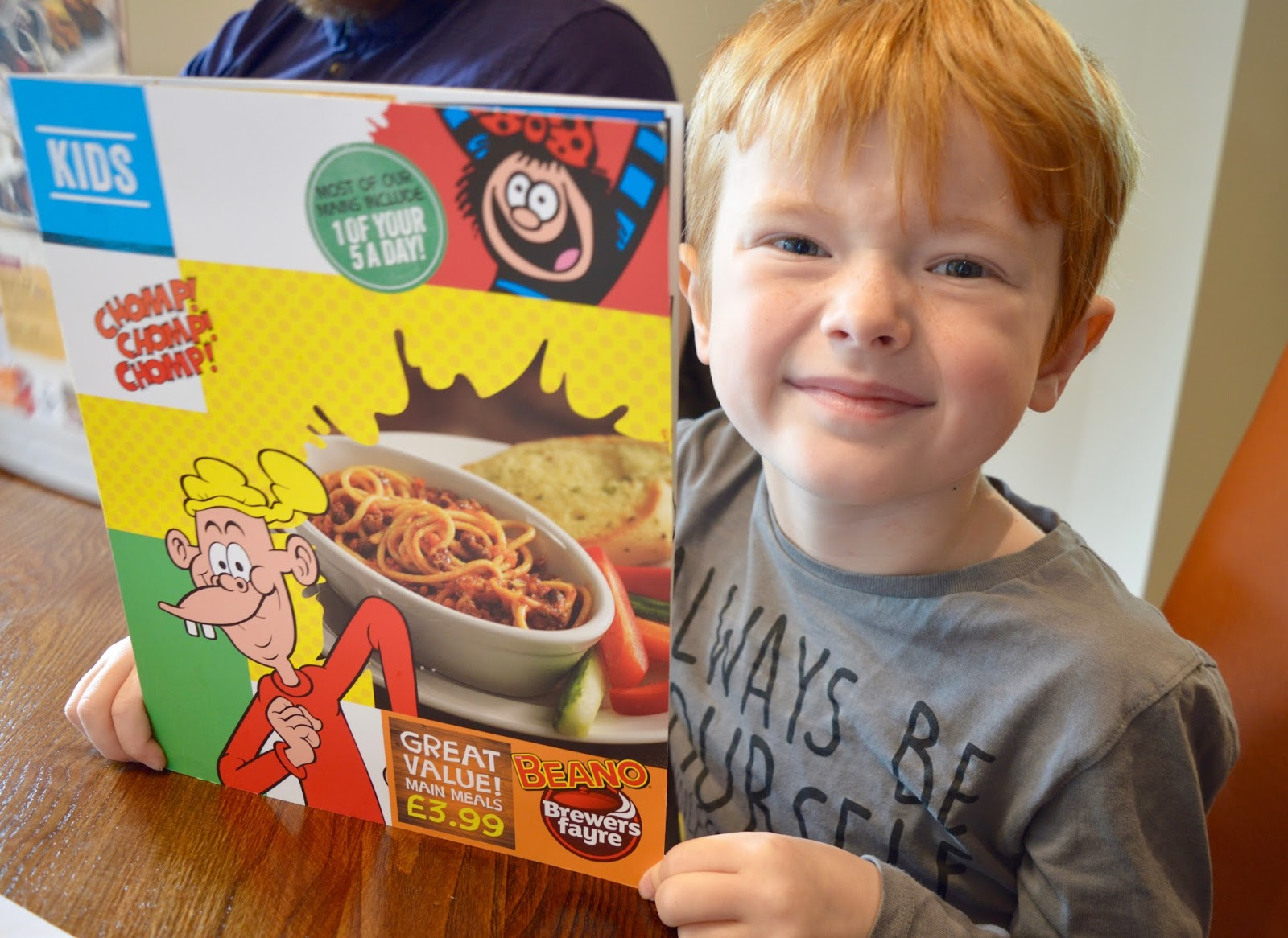 Derwent Crossing Brewers Fayre near intu Metrocentre | Play Area & Children's Menu Review - Beano children's menu