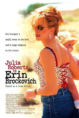 Poster of Erin Brockovich 2000 720p Hindi BRRip Dual Audio Full Movie Download