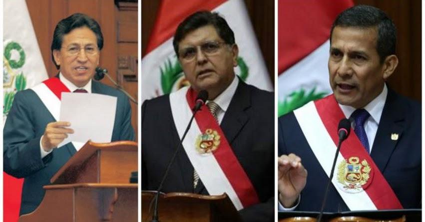 Expresidentes perderían pensión si son sentenciados por delito doloso, según proyecto de Ley