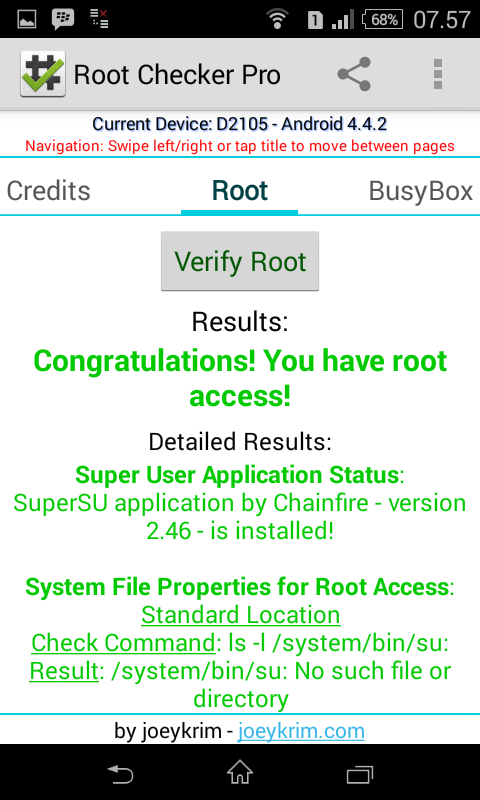 android: HOW TO ROOT SONY XPERIA E1 DUAL KITKAT Locked Bootloader