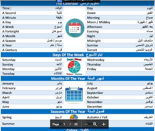 كلمات اللغة الانجليزية pdf