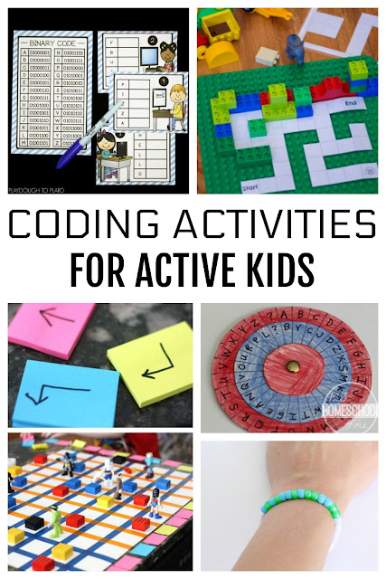 Coding Activities for Kids- lots of fun, clever, hands on games for kids of all ages to learn computer programming.