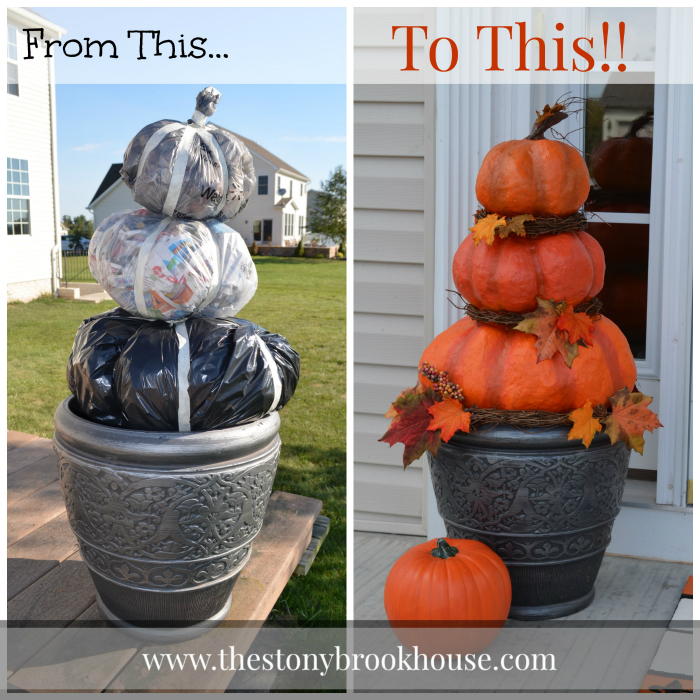 Before and After DIY Pumpkins